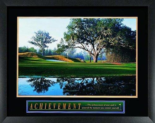 Golf Framed Motivational Poster Balls Clubs Tees