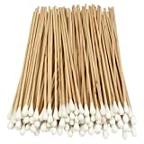 HTS 101K0 6 Inch 1000-Pc Long Wooden Stick Cotton Tip Applicator (10 Packs of 100)