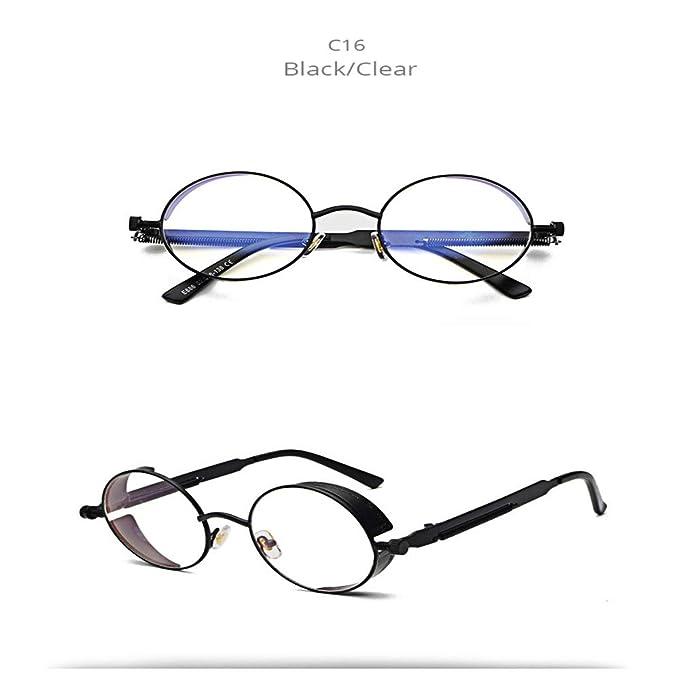 Wang-RX Gafas de sol redondas de metal Hombres Mujeres ...