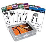 Fitdeck Illustrated Exercise Playing Cards for Guided Workouts, Basketball