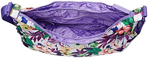Desigual BOLS_HALF Moon, Bolsa de Medio Lado para Mujer, Morado (3168 Purple Opulence), 14x20x40 cm (B x H x T)