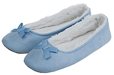 c1b37519704eb MIXIN Women's Ballerina Slippers Elegant Comfortable Soft Sole Indoor House  Shoes