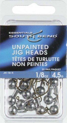 South Bend Unpainted Jig Head 1/8 oz, Outdoor Stuffs