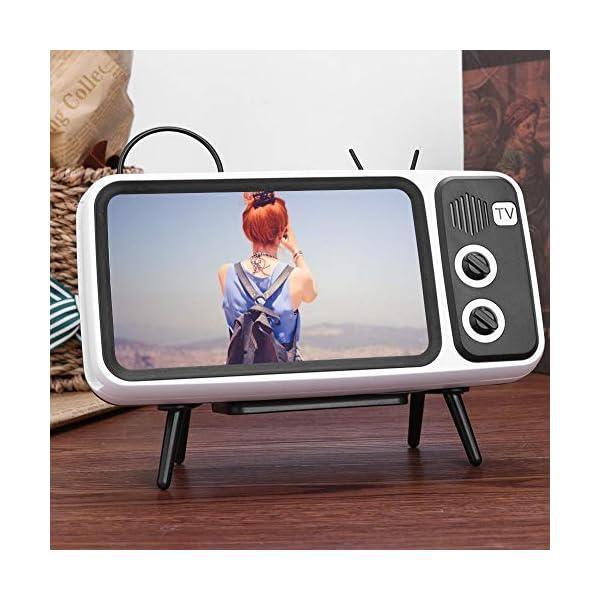 Domybest Enceinte Bluetooth Portable Mini Haut-Parleur Bluetooth Support de Téléphone de Forme TV Rétro Lecteur de Musique Sound Box Bluetooth Portable sans Fil 2