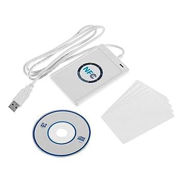 1 Juego de Lector de Tarjetas Inteligentes NFC RFID USB ...