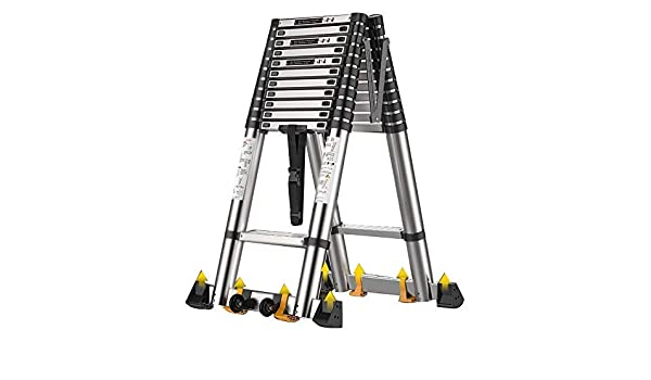LWW Escalera, escalera de extensión, Ingeniería escaleras móviles, portátil, elevación de espiga de escalera, Capacidad de carga 150 Kg,3,9 millones de espiga de escalera (12,79 pies): Amazon.es: Bricolaje y herramientas