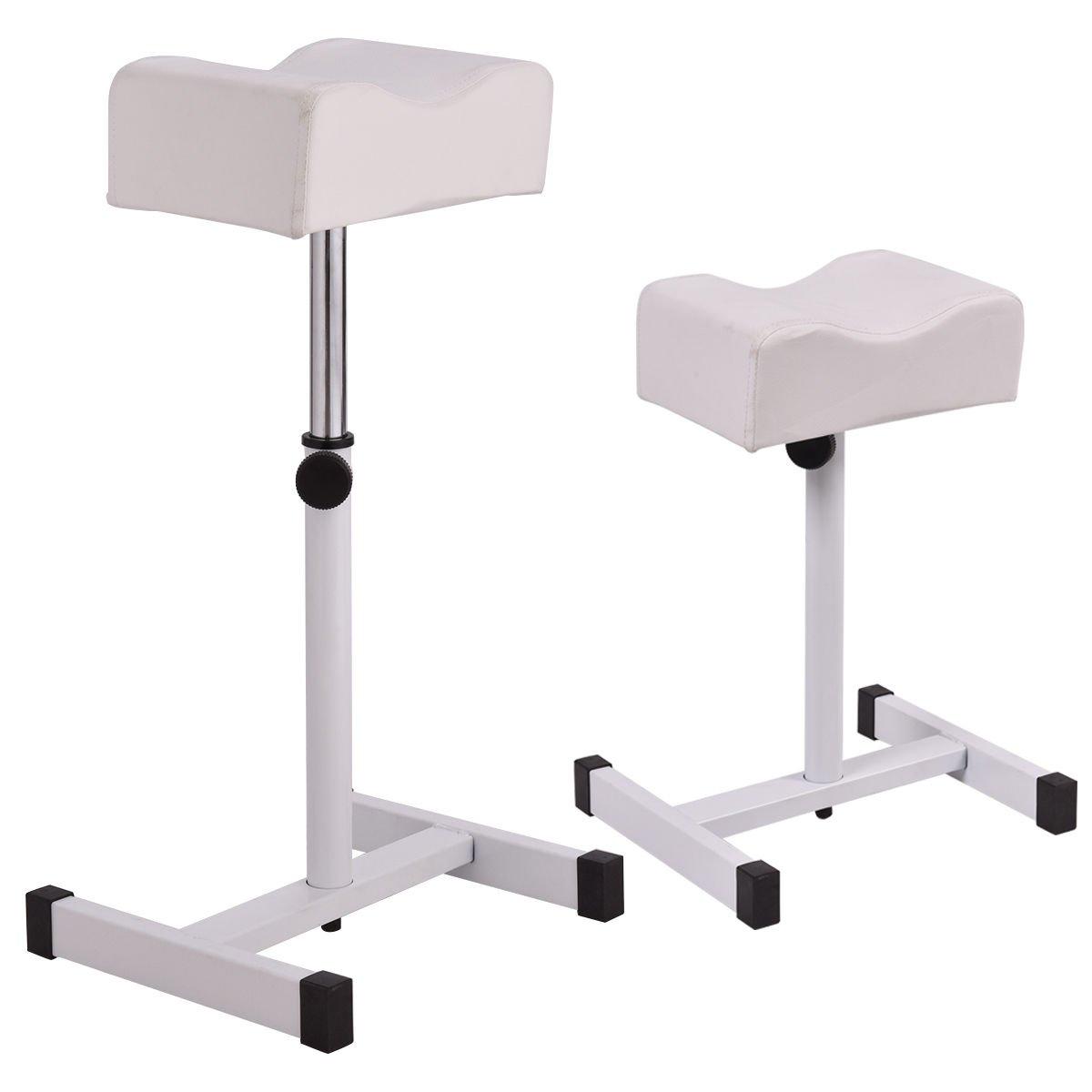 Simply Silver - Adjustable Pedicure - White Adjustable Pedicure Manicure Technician Nail Footrest Salon Spa Equipment