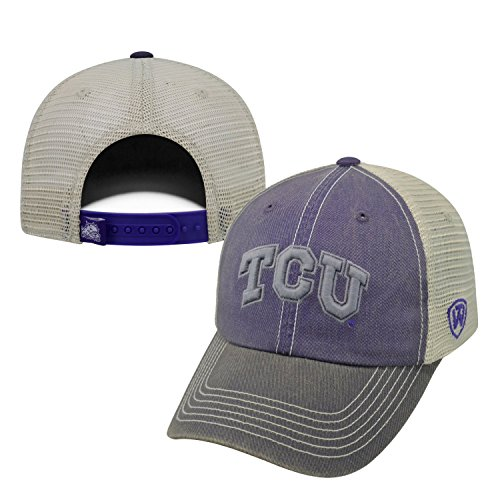 NCAA Tcu Horned Frogs Offroad Snapback Mesh Back Adjustable Hat, One Size, - Horned Snapback