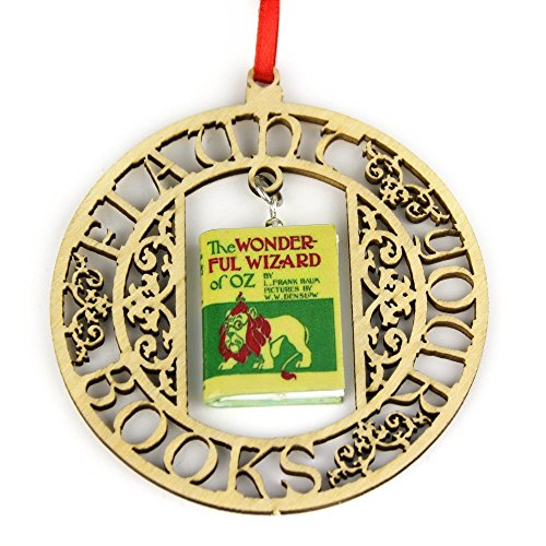 THE WIZARD OF OZ L. Frank Baum Clay Mini Book FRAMED Home Decoration Ornament by Book Beads ()