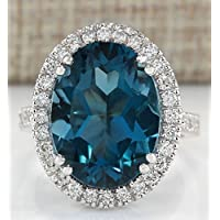 Na Na Nubngen Siam panva Women Fashion London Blue Topaz Gemstone 925 Sterling Silver Ring Bridal Jewelry (6)