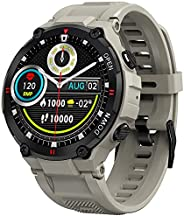 Smart Watch for Men Outdoor Waterproof Military Tactical Sports Watch Fitness Tracker Watch with Heart Rate Mo