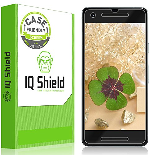 Large Product Image of Google Pixel 2 Screen Protector (Case-Friendly)Clear HD Anti-Bubble [Easy to install] [2-Pack] IQ Shield LiQuidSkin Full Coverage Screen Protector for Google Pixel 2