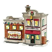 "Department 56 A Christmas Story Village Leg Lamp Factory Lit House, 5.91"""