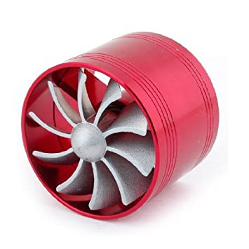 La ingesta turbo rojo Aire Fan Kit Kit de gas del combustible del ahorrador del para