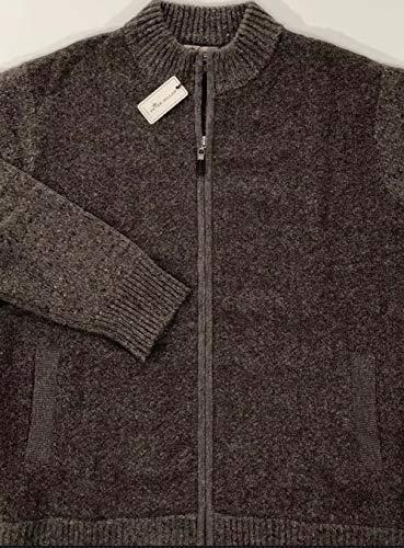 - Peter Millar Men's Acorn Brown Mountainside Tweed Alpaca Blend L/S Full Zip Cardigan Sweater Large