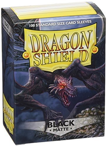Dragon Shield Matte Black 100 Protective Sleeves (Shield Black The)