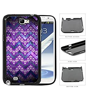 Mini Turtles In Chevron Pattern Purple Hard Plastic Snap On Cell Phone Case Samsung Galaxy Note 2 II N7100