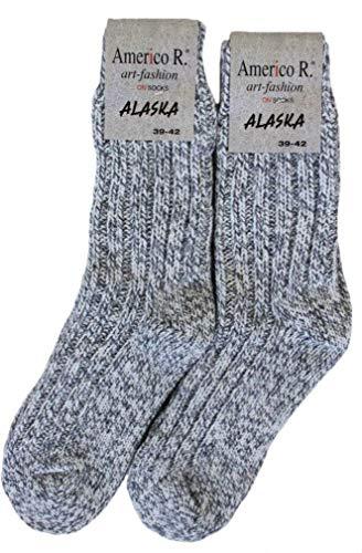 bianca R con 2 mix lana Americo Calze Grey Marl paia Alaska grigia Lew vnwUqx6aqT
