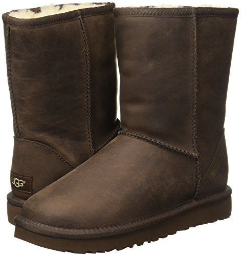 Short Stiefel Brownstone Leather UGG Classic 2017 SYq4x1P