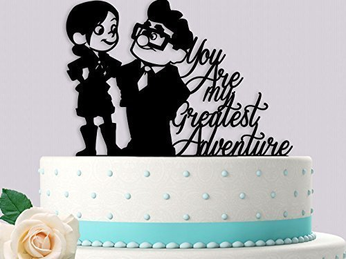 Disney Wedding Cake Toppers (Carl and Ellie You are my Greatest Adventure Wedding Cake Topper)