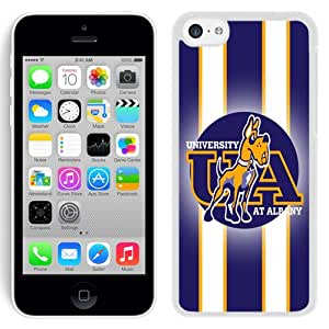 Fashionable And Unique Designed With NCAA Colonial Athletic Association CAA Football Albany Great Danes 1 Protective Cell Phone Hardshell Cover Case For iPhone 5C Phone Case Black