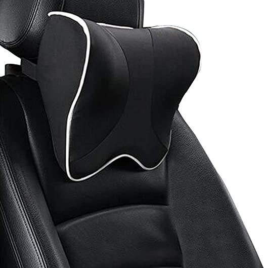 Zatooto Auto Kopfstütze Nackenkissen Für Autositz Memory Schaum Nackenstütze Für Erwachsene Und Kinder Schwarz Auto