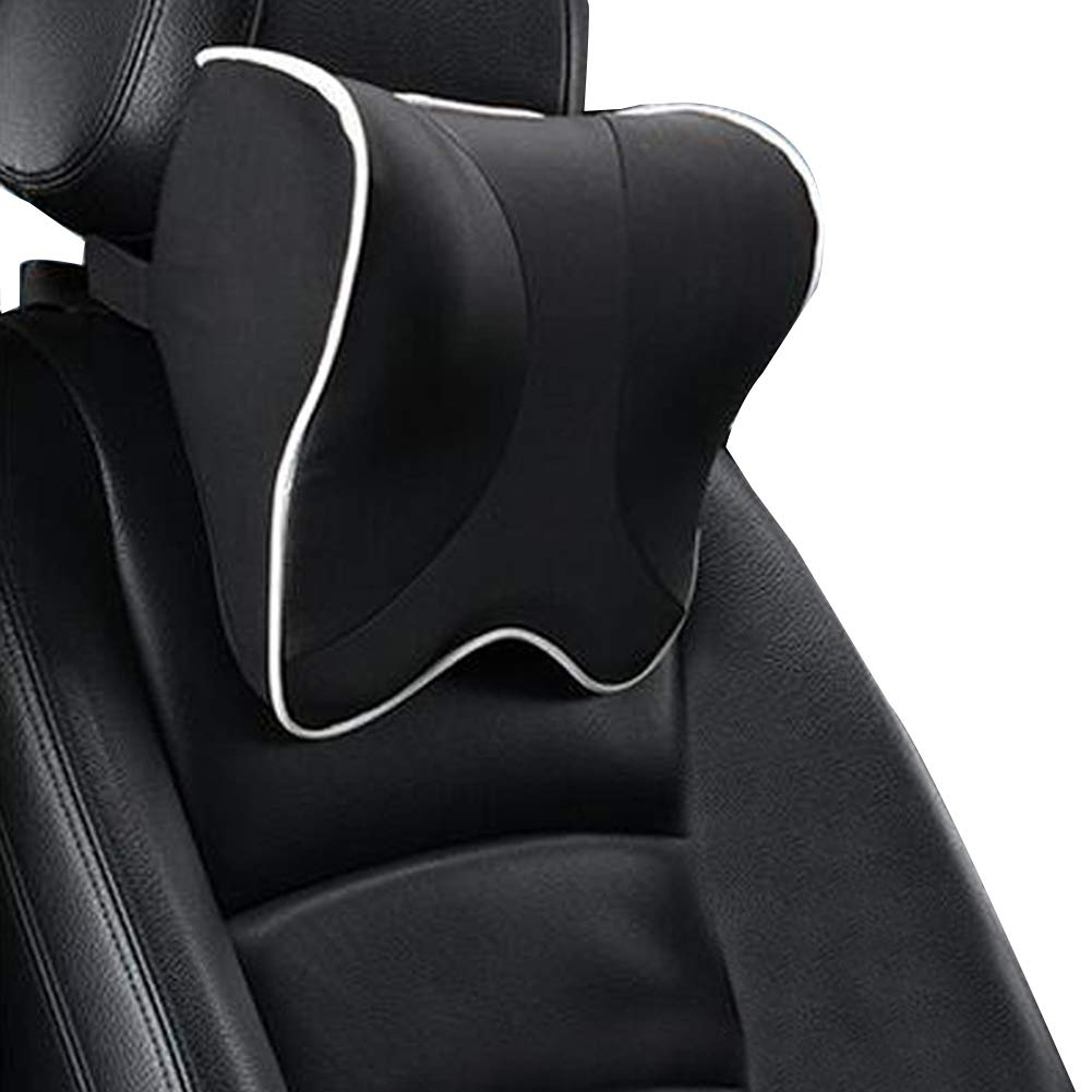 ZATOOTO Car Neck Support - Memory Foam Headrest Pillow for driving, Black A02