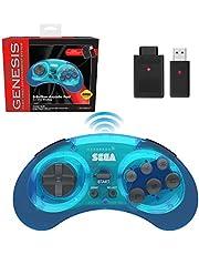 Sega Genesis Mini 6 Button Wireless Controller Clear Blue