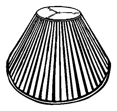 Royal Designs Coolie Empire Side Pleat Basic Lamp Shade, White, 7 x 20 x 12.5 by Royal Designs, Inc