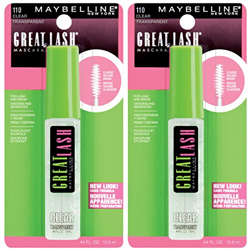Great Lash Clear Mascara Makeup, Clear, 2 Count ()