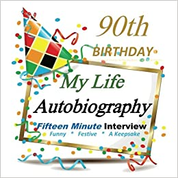 90th Birthday My Life Autobiography Party Favor Gifts In All Departments Favors Card
