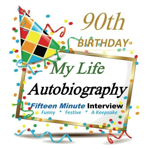 90th Birthday: My Life Autobiography, Party Favor, 90th Birthday Gifts in all Departments, 90th Birthday Party Favors in all Departments, 90th Birthday Card in all (Party Supplies Uk)
