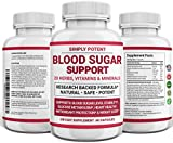 Diabetic Supplement for Natural Blood Sugar Support & Glucose Level Balance, Pre-Diabetes & Diabetes Support w 20 Vitamins & Herbs for Healthy Pancreas Insulin Sensitivity Metabolism for Men & Women