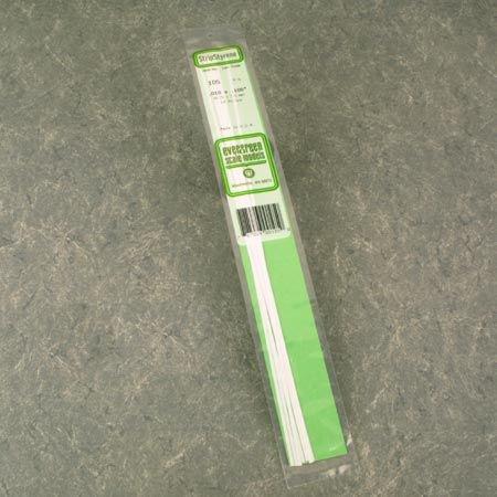 Evergreen Scale Models Strip .010 x .250 (10), - Strips Styrene Evergreen Scale