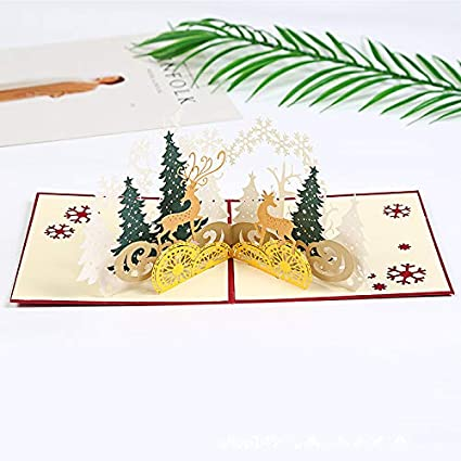 3d christmas pop up card and envelope unique pop up greeting cards for birthday