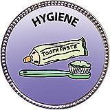 Keepsake Awards Hygiene Award, 1 inch dia Silver Pin Personal Skills Collection