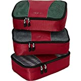 eBags Small Classic Packing Cubes for Travel - Organizers - 3pc Set - (Raspberry)