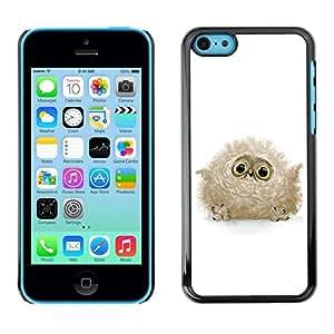 Be Good Phone Accessory // Dura Cáscara cubierta Protectora Caso Carcasa Funda de Protección para Apple Iphone 5C // Cute Baby Owl