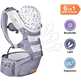 Bable Baby Carrier with Hip Seat, 6-in-1 Convertible...