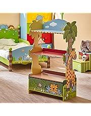 Meuble bibliothèque étagère 1 tiroir rangement livre jouet enfant bois W-8268A