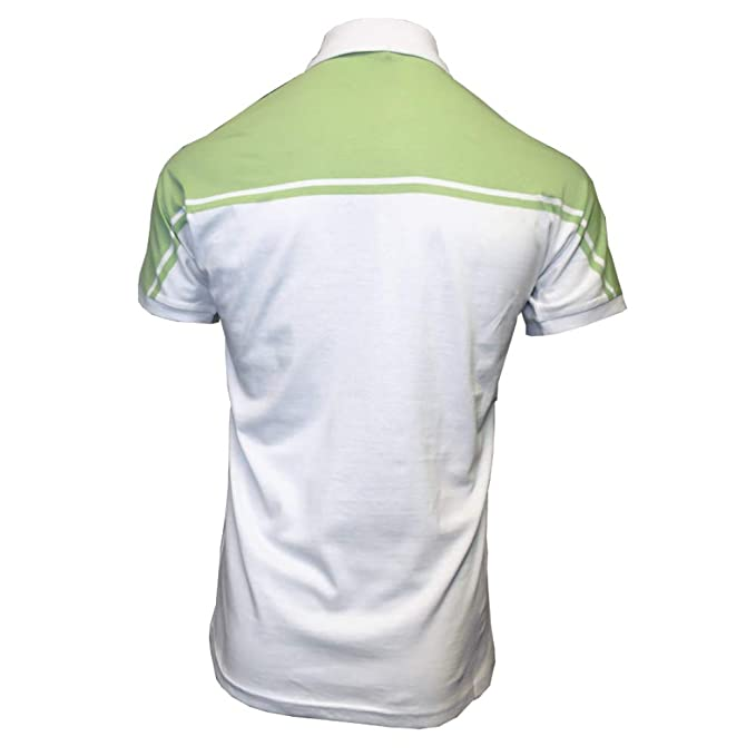 Sergio Tacchini New Young Line Polo Shirt White/Pale Green 4XL ...