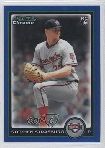 Buy stephen strasburg 2010 bowman chrome blue
