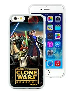 Case For iPhone 6,clone wars White iPhone 6 (4.7) TPU Case Cover
