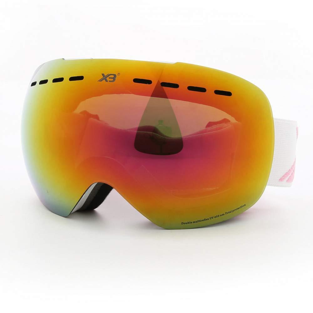 G  LOLIVEVE Lunettes De Ski Hommes Femmes Lunettes De Snowboard Lunettes De Ski Uv400 Prougeection Neige Lunettes De Ski Anti-Brouillard Masque De Ski Unisexe