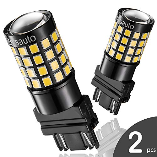 3157 3156 4057 LED Reverse Backup Bulb Extremely Bright, [2018 UPGRADED] Marsauto 52 SMD 3030/2835 Chipsets Back up Stop Tail Light Lamp Bulbs Replacement (Set of 2) ()