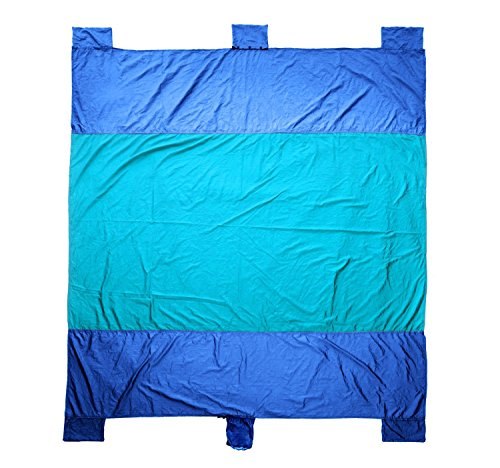 Price comparison product image Bezzee Extra large Beach Blanket sand proof Beach Mat Picnic blanket water resistant, Machine washable durable Colorfast ripstop Parachute Nylon, XXL 7'x 9' for Camping, Hiking, outdoor Festivals