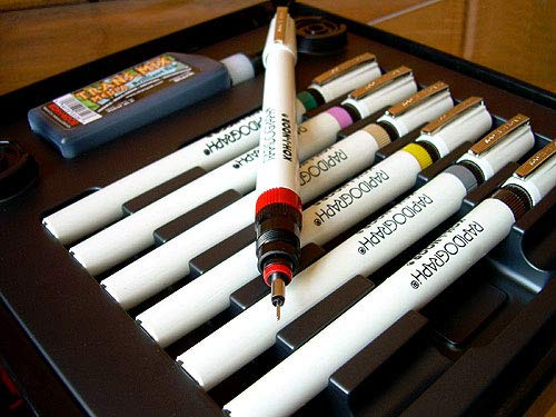 (Koh-I-Noor Rapidograph 7 Pen Artists Set (3165SP7A))