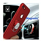 Fwaytech Compatible iPhone 7 Case Ring Stand Red