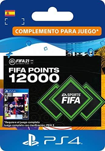 FIFA 21 Ultimate Team 12000 FIFA Points | Código de descarga PS4 (incl. upgrade gratuita a PS5) - Cuenta española: Amazon.es: Videojuegos