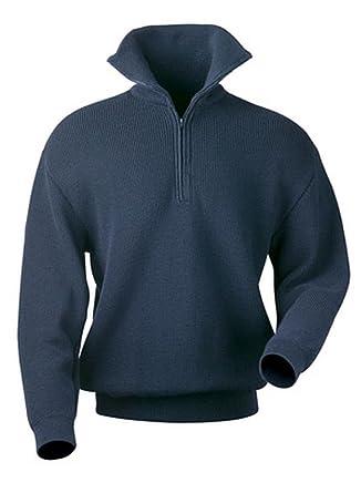 Troyer-Pullover mit Reißverschluss marine Gr L Airsoft